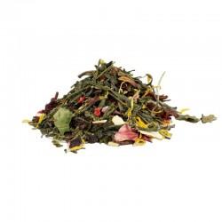 Thé vert à la Rhubarbe et à la Fraise bio