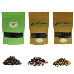 Pack découverte 3 thés noirs aux arômes naturels et fruits bio