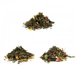 Pack découverte 3 thés verts bio et fruits