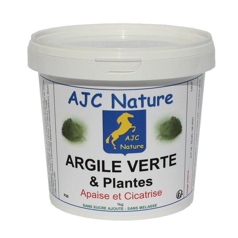 ARGILE VERTE et PLANTES | Cheval